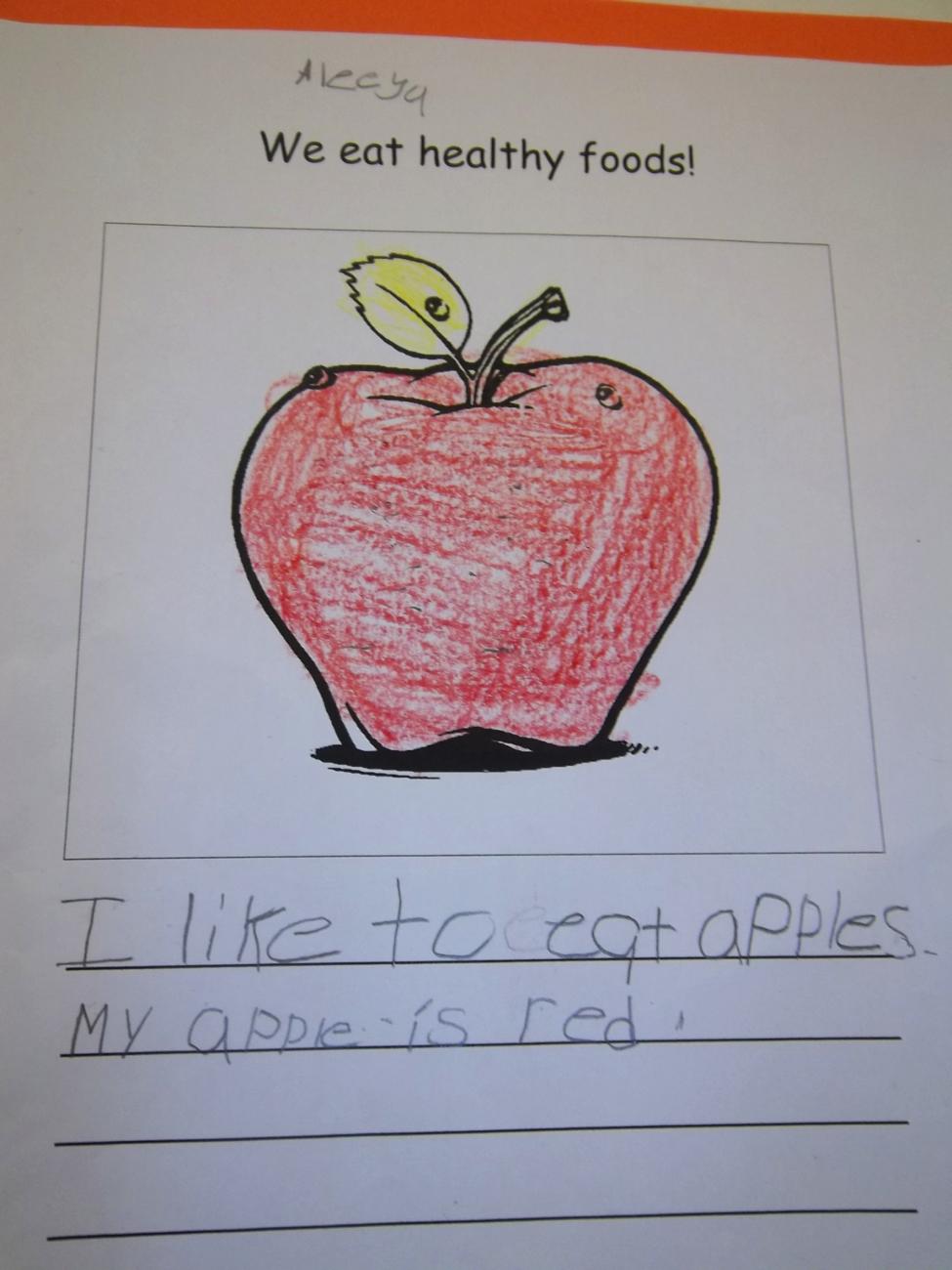 Kindergarten  U201cwhat Is Healthy Food  U201d Lunchroom Poster Project